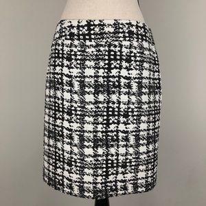 Ann Taylor Print Career Pencil Skirt